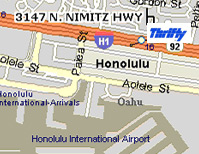 Thrifty Car Rental Honolulu Airport Location